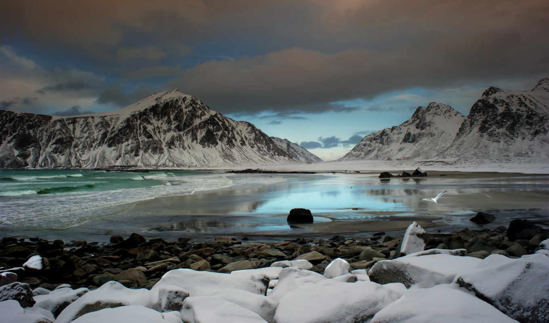 камни, море, горы, побережье, картинка, mountains, rocks, sea, coast, картинку, wallpaper,