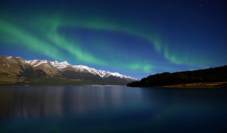 aurora, zealand, new, borealis, wakatipu, озеро, со, this,