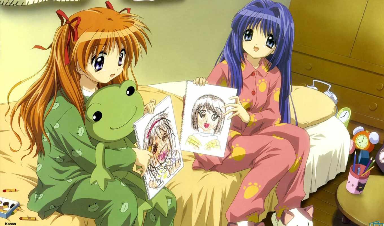 anime, пижама, characters,