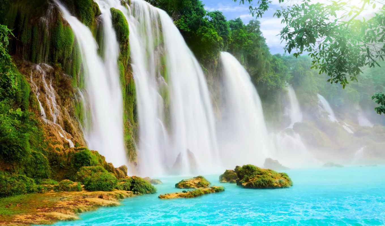 водопад, купить, готовые, фотообои, алмазной, ukraine, cheap, раю, genius, wizard,