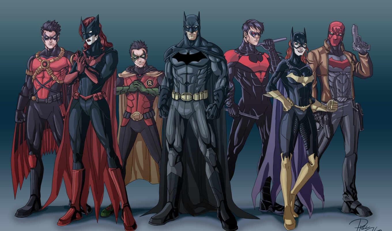 batman, семья, robin, nightw, red, comics, wayne, bat, bruce, catwoman