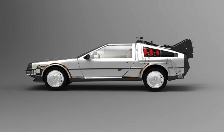 фильм, автомобиль, будущее, назад, времени, делореан, машина, картинку, картинка, кнопкой,