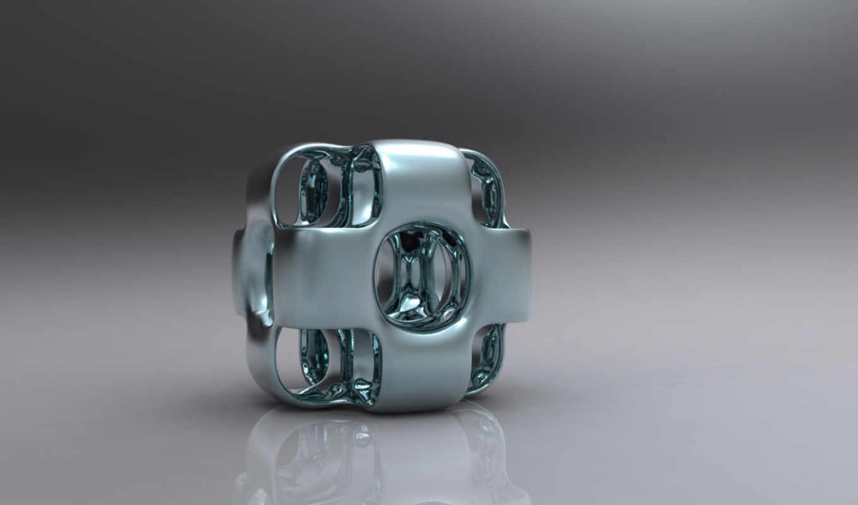 металлик, desktop, кубик,