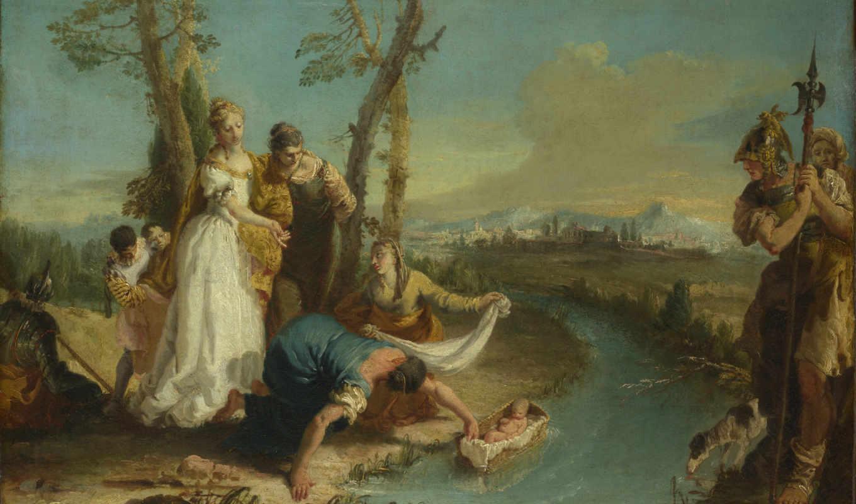 francesco, moses, finding, моисея, zuccarelli, расположение, zugno, landscape, gallery,