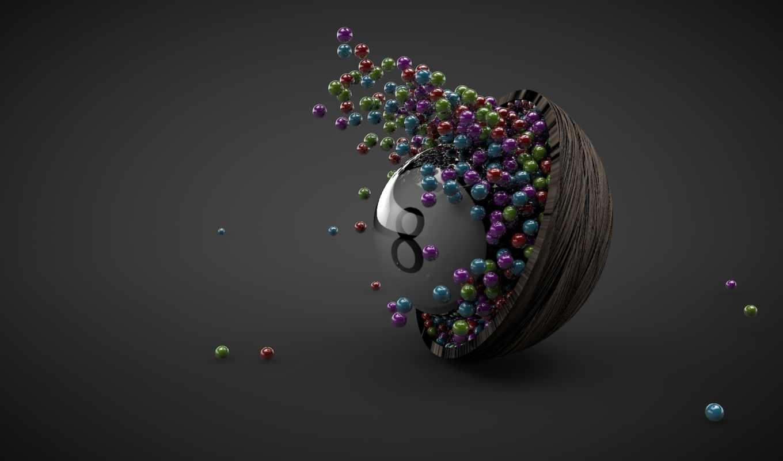 абстрактные, шары, страница, abstract, design, красочные, трио, графика,