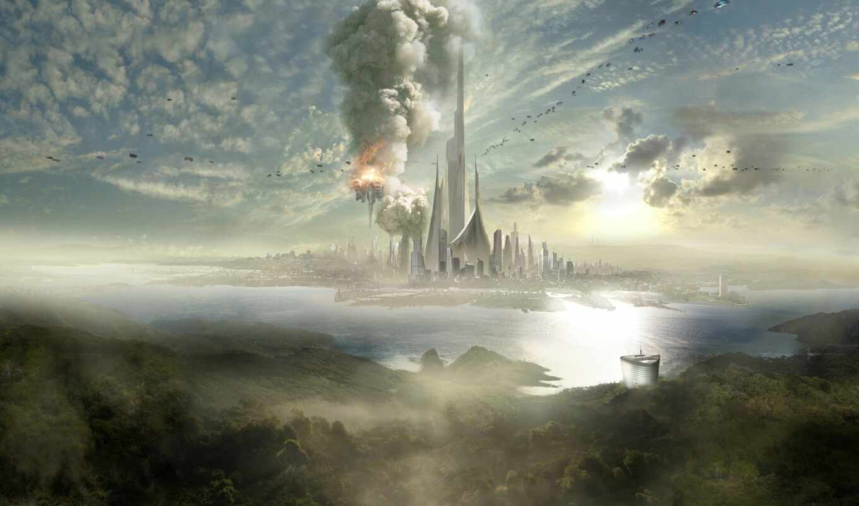 город, фантастика, futuristic, scus, art, будущее, science, небоскрёб, illustration, fantasy, cityscape