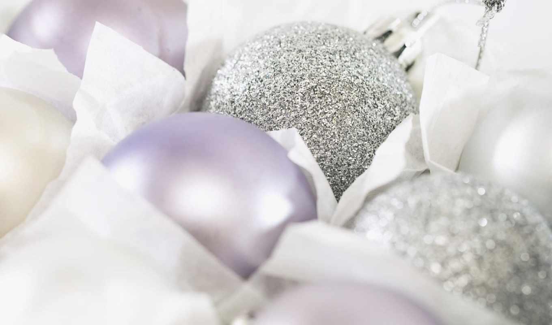 год, новый, новогодние, игрушки, christmas, бесплатные, праздники, серебристые, шарики, decorations, white, елочные, красивые, серебристое, серое,
