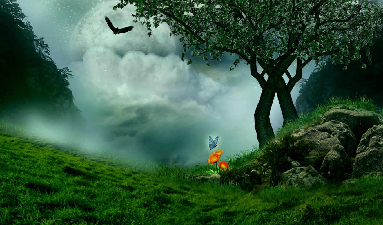 landscape, fantasy, фантастика, art, разных, разрешениях,