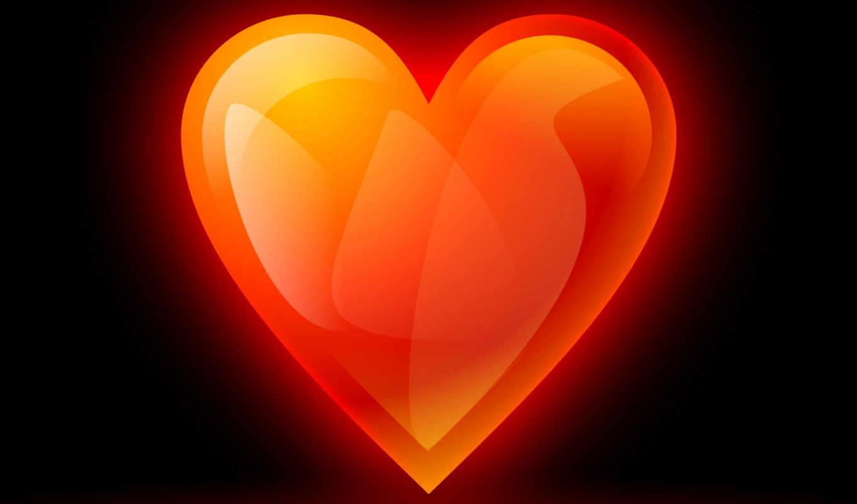 сердце, abstract, пламя, красный