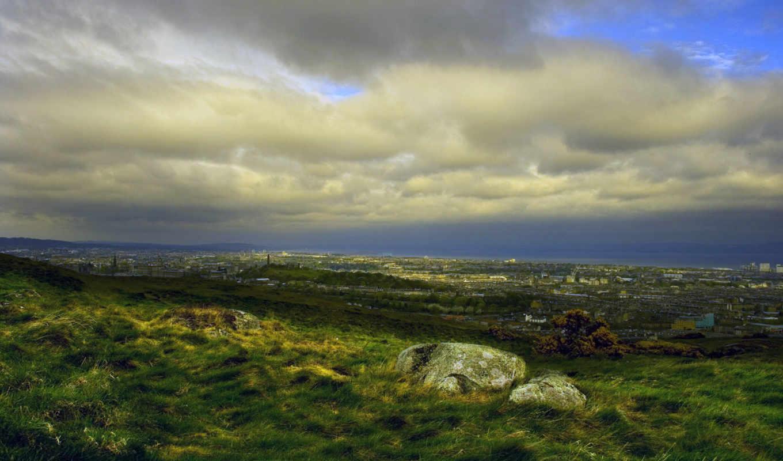 зеленая, долина, hd, нема, природные, полянка, ùî, 骵ä, природа, симпотичная, wallpaper, еще, города, облака, подборка, arthursseat, wallpapers, tenebra, трава, шотландии, эдинбург, landscapes, olduk