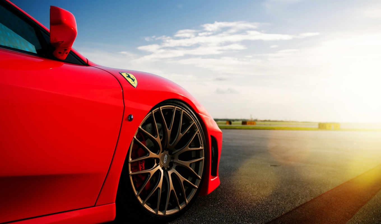 авто, автомобили, red, диск, машины, шина, машина, облака, красная, небо, картинка, cars,