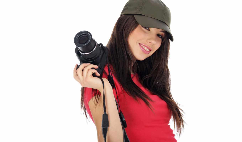 mood, camera, девушка, cáp, with, красивая, smile, paparazzi,