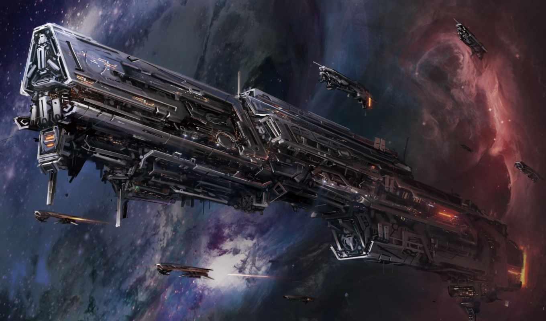космос, звезды, корабль, sci, будущее, девушки, звездолёт,