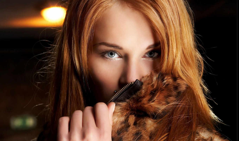 рыжая, глаза, взгляд, девушка, картинку, волосы, меха, золотистые, шуба, правой, заставки, кнопкой, девушки, лицо, нравится, мыши,