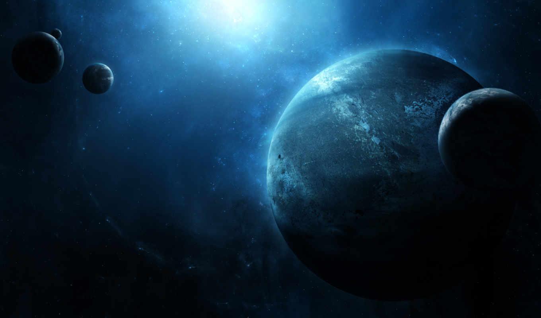 планеты, звезды, бесконечность, спутники, свет, картинка, картинку,