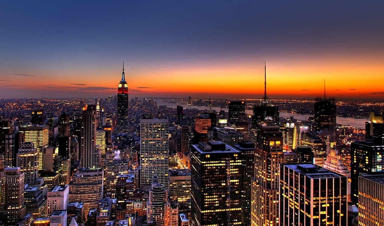 город, нью, york, города, небоскребы, new, здания,