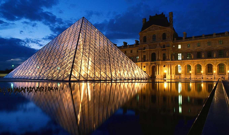 louvre, париж, франция, париже, museum, франции, пирамида,