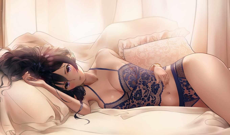 anime, девушка, busty, sunakoart, funny, плакат, декор, стена, ткань, anim, granblue