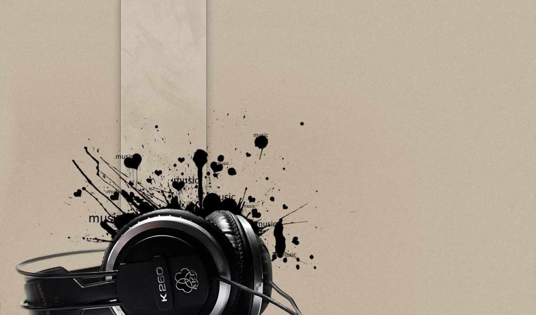 headphones, K260, black, heart