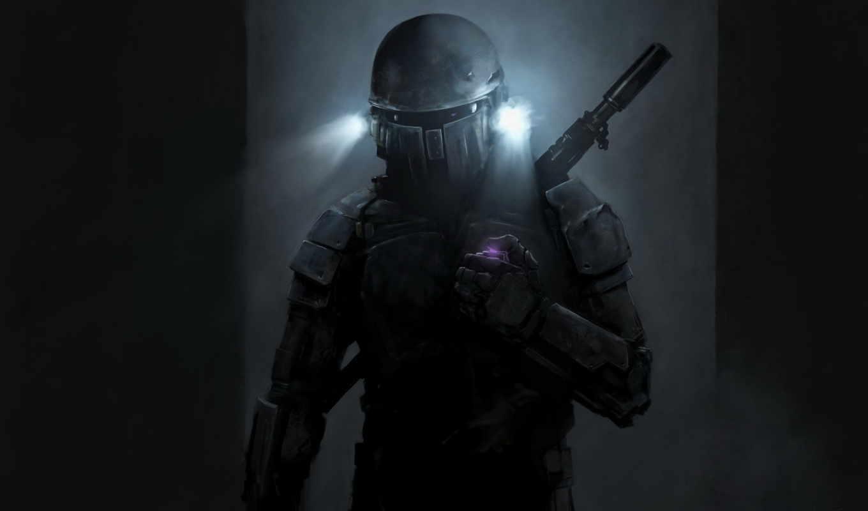 Jango Fett, костюм, оружие, шлем, фонари