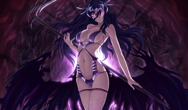 anime, девушка, демон, демоны, девушки,