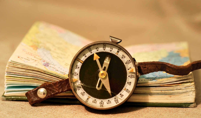 винтаж, stil, атлас, карманный, книга, компас, кожа,
