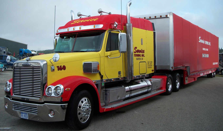 freightliner, автомобили, trucks, gruzoviki, truck, trailer,