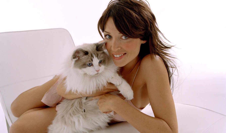 девушка котенок лицо взгляд  № 3597639  скачать