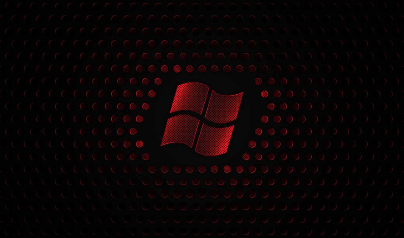 windows, logo, red, pulpit, wallpaper
