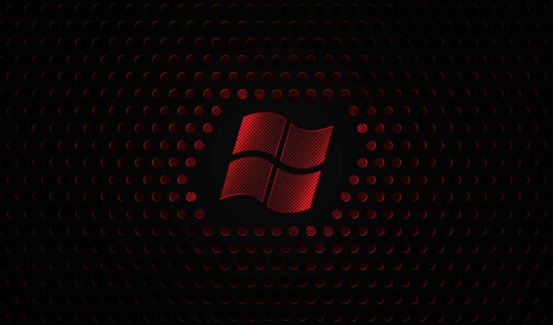 windows, logo, red, pulpit, wallpaper