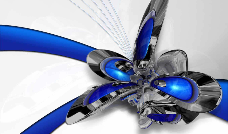 abstract, desktop, robot, blue,