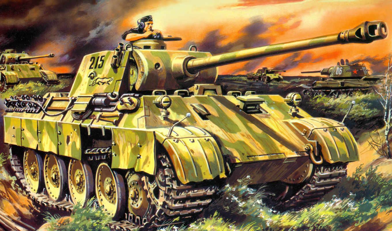 руденко, танк, рисунок, пантера, средний, kfz, sd, картинка,