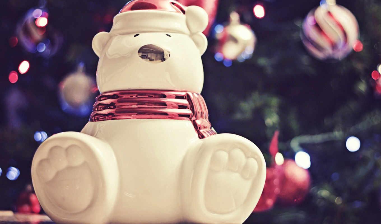 новый, год, polar, мишка, happy, christmas, игрушка, картинка,