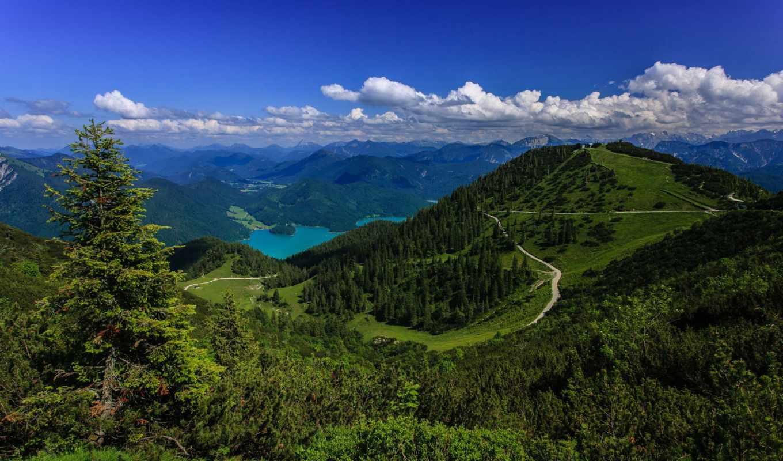 баварские, альпы, german, озеро, bavarian, германия,