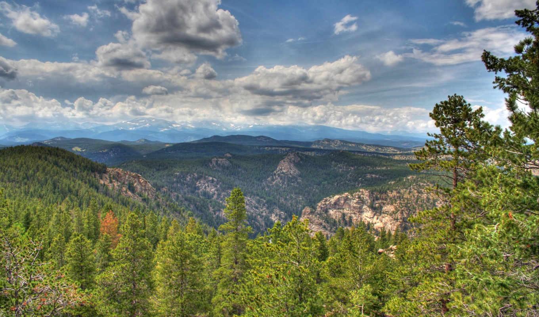 гор, леса, просторы, nature, wallpapers, между, землей, небом,