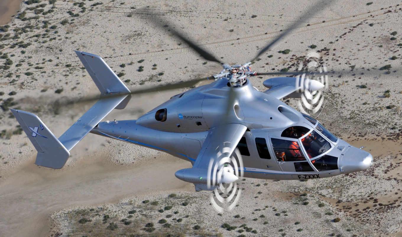 eurocopter, вертолет, высота, винтокрыл, полет, пустыня, авиация, картинка,
