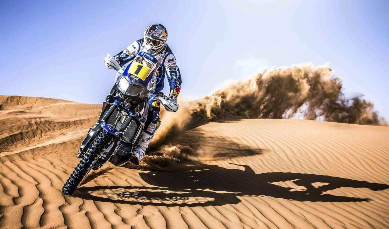 dakar, rally, мотоцикл, мото, спорт, песок,