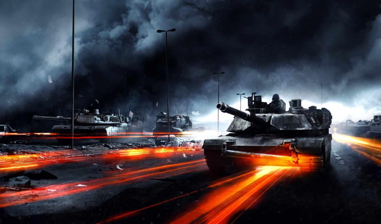 танки, battlefield, war, картинка, дым,