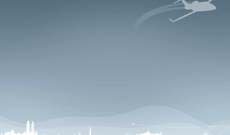самолет, минимализм, вектор, hd, wallpaper, смотрите, plain,