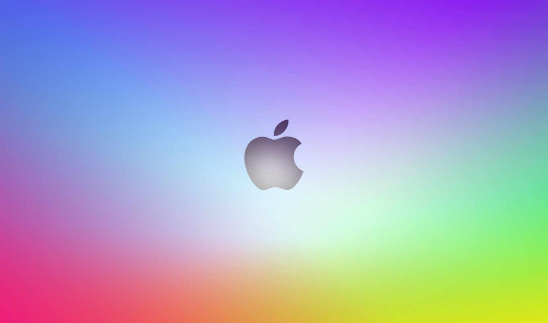 apple, лого, радужный, градиент