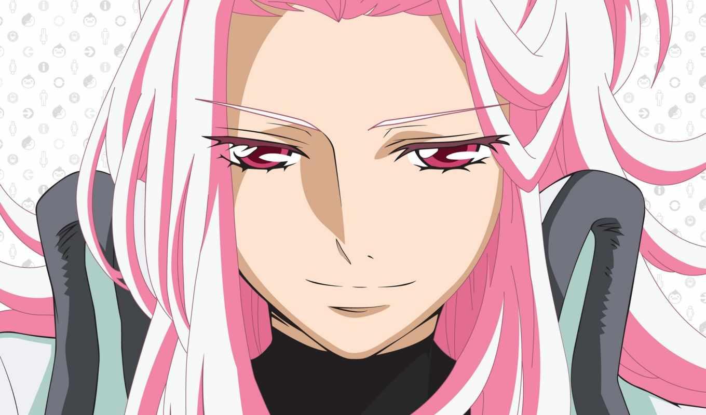 девушка, лицо, anime, парень, волосы, розовый, близко,