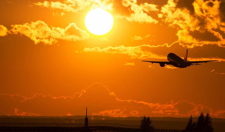 Обои лучи, красота, Самолёт, Облака. Авиация foto 18