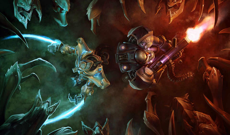 starcraft, games, desktop, protoss, this, star, game,