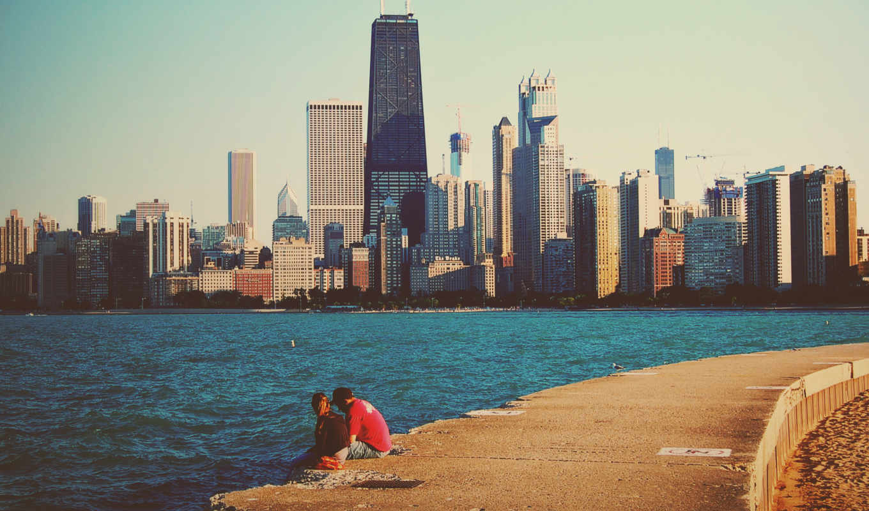 он и она, море, город, разговор