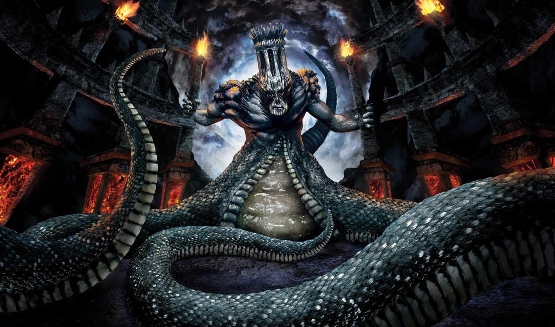 games, inferno, dantes, dante, game, змеиное, чудовище, desktop, image,