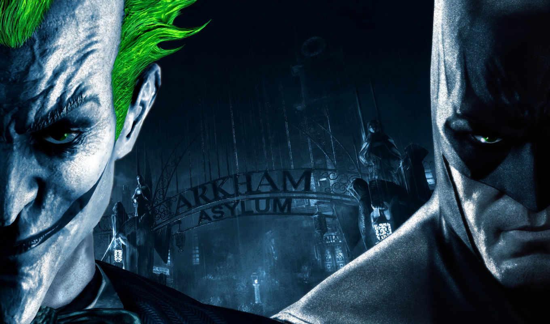 batman, arkham, город, joker, игры, свой, crazy, злодей,