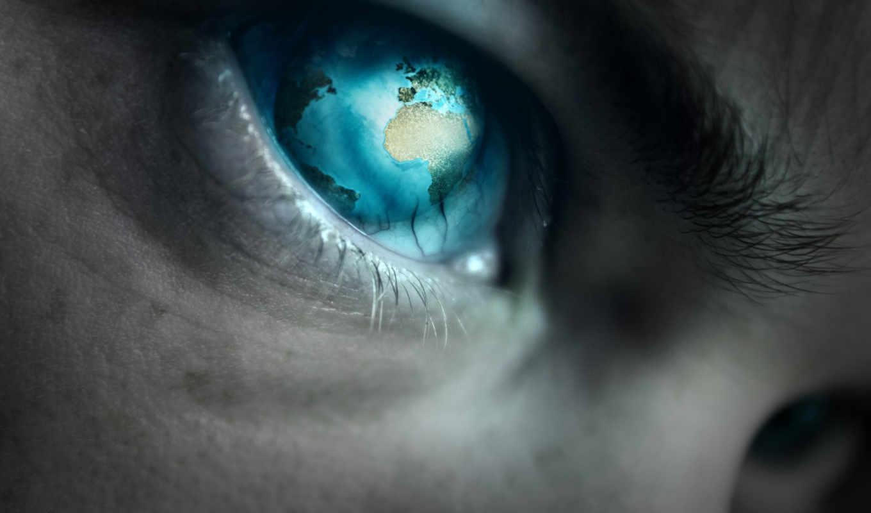 глаз, planet, blue, stock, digital, art,