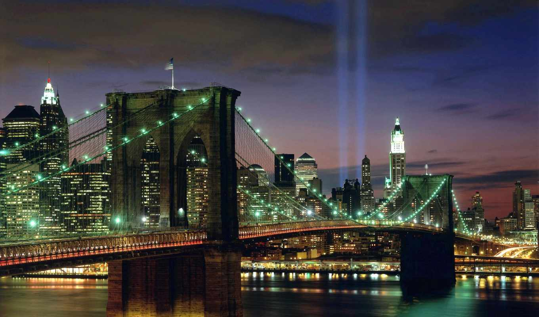 мост, город, бруклин, new, york, see, more, об,