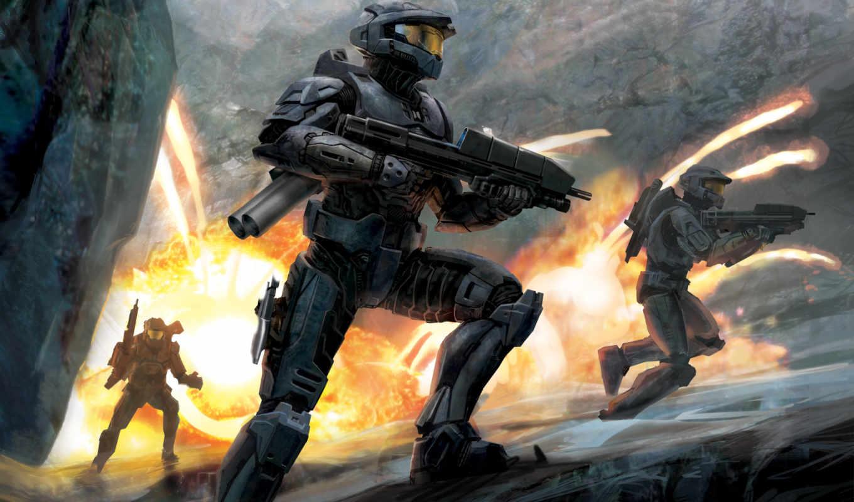games, halo, космическая, бою, пехота, игры, desktop, game, бесплатные, home, video,