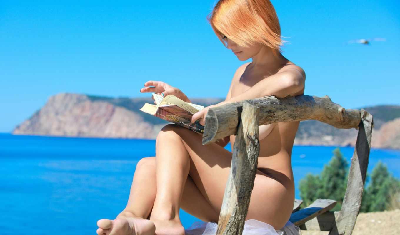 devushka, ut, грудью, летним, февр, днём, третьего, размера, солнечным, кожей, натуральной, украинская, нежной, dina, violla, рыжевласая, красавица,